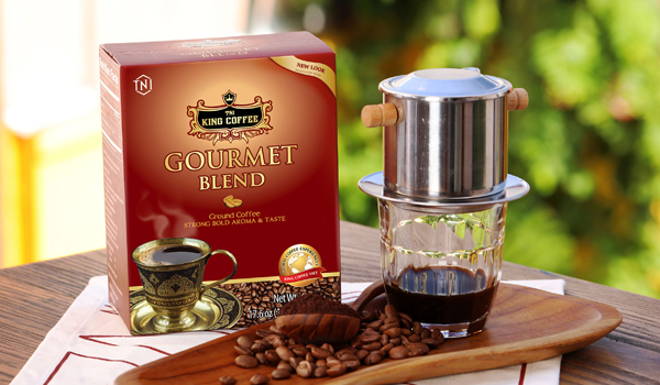 Dòng sản phẩm cafe rang xay của King Coffee được sử dụng rộng rãi