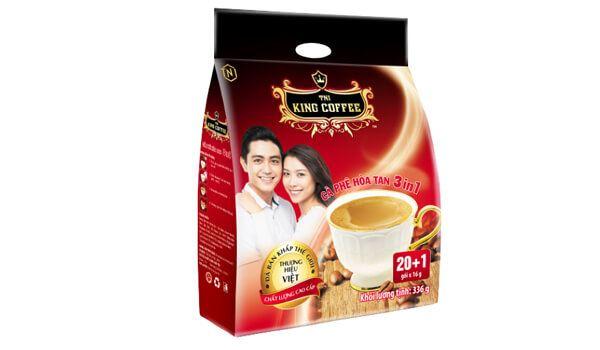 Cà phê đen King Coffee 3 in 1 túi 20 gói