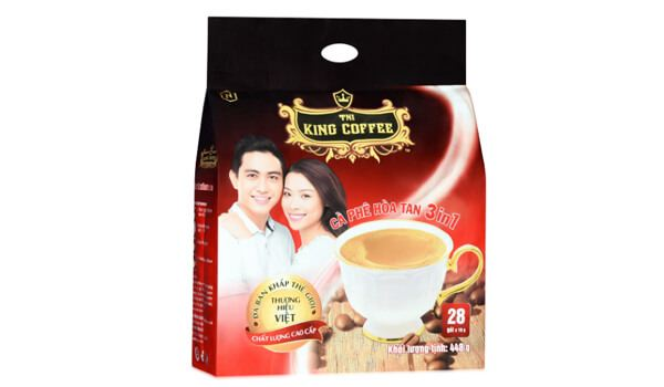 Cà phê đen King Coffee 3 in 1 túi 28 gói