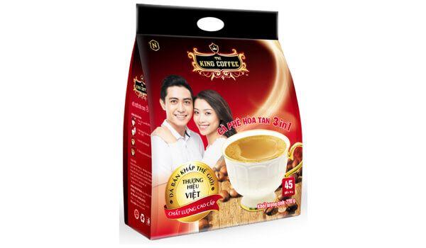 Cà phê đen King Coffee 3 in 1 túi 45 gói