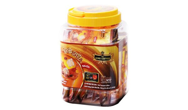 Cà phê sữa hòa tan King Coffee 3in1 hũ 30 gói